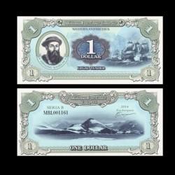 TERRE MARIE BYRD - Billet de 1 Dollar - Fernand de Magellan - 2014