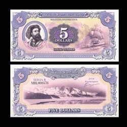 TERRE MARIE BYRD - Billet de 5 Dollars - Marco Polo - 2014