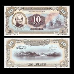 TERRE MARIE BYRD - Billet de 10 Dollars - Mikhaïl Lazarev - 2014