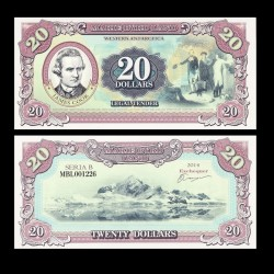 TERRE MARIE BYRD - Billet de 20 Dollars - James Cook - 2014