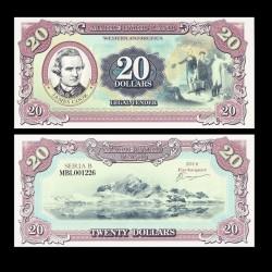 TERRE MARIE BYRD - Billet de 20 Dollars - James Cook - 2014