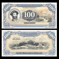 TERRE MARIE BYRD - Billet de 100 Dollars - James Cook - 2014