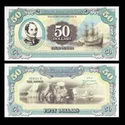 TERRE MARIE BYRD - Billet de 50 Dollars - Fabian Gottlieb von Bellingshausen - 2014