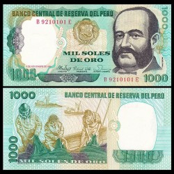 PEROU - Billet de 1000 Soles de Oro - Miguel Grau - 5.11.1981