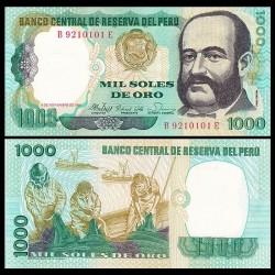 PEROU - Billet de 1000 Soles de Oro - Miguel Grau - 5.11.1981 P122a