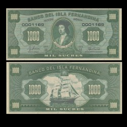 ISLA FERNANDINA - Billet de 1000 Sucres - Ferdinand II d'Aragon - 2016