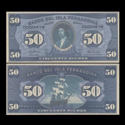 ISLA FERNANDINA - Billet de 50 Sucres - Ferdinand II d'Aragon - 2016 00050