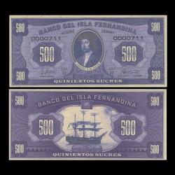 ISLA FERNANDINA - Billet de 500 Sucres - Ferdinand II d'Aragon - 2016 00500