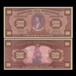 ISLA FERNANDINA - Billet de 5000 Sucres - Ferdinand II d'Aragon - 2016