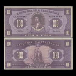 ISLA FERNANDINA - Billet de 100 Sucres - Ferdinand II d'Aragon - 2016 00100
