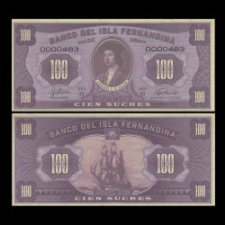 ISLA FERNANDINA - Billet de 100 Sucres - Ferdinand II d'Aragon - 2016