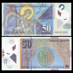 MACEDOINE DU NORD - Billet de 50 Denari - Polymer - 2018 P26a