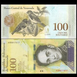 VENEZUELA - Billet de 100000 Bolivares - 13.12.2017 P100b1