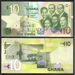 GHANA - Billet de 10 Cedis - 2013