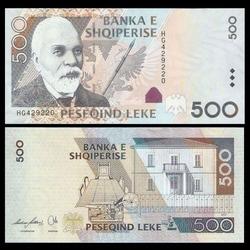 ALBANIE - Billet de 500 Leke - 2007