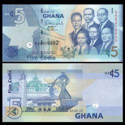 GHANA - Billet de 5 Cedis - 2015