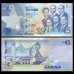 GHANA - Billet de 5 Cedis - 2014