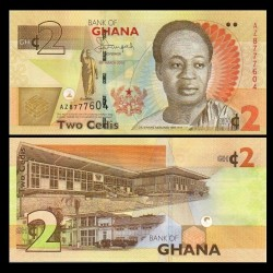 GHANA - Billet de 2 Cedis - 2013