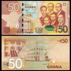 GHANA - Billet de 50 Cedis - 2015