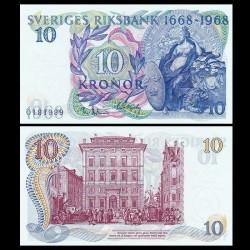 SUEDE - Billet de 10 Couronnes - 300ème anniversaire de Sveriges Riksbank (1668-1968) - 1981