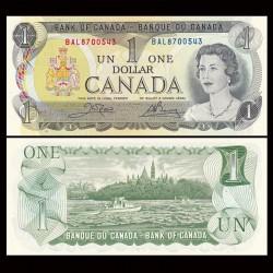 CANADA - Billet de 1 DOLLAR - Elizabeth II - 1972