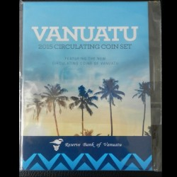 VANUATU - SET / LOT de 5 PIECES de 5 10 20 50 100 Vatu EN BLISTER OFFICIEL - 2015