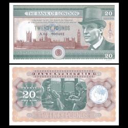 ANGLETERRE / BANK OF LONDON - Billet de 20 Pounds - Sherlock Holmes - 2016