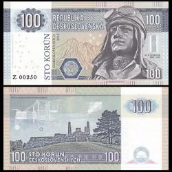 TCHECOSLOVAQUIE - Billet de 100 Korun - Stefanik - 2016