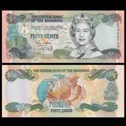 BAHAMAS - Billet de 50 Cents - Marché de Nassau - 2001 P68a