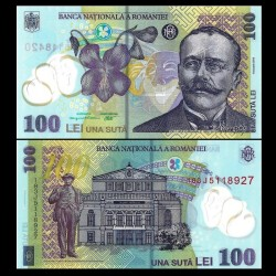 ROUMANIE - Billet de 100 Lei - Ion Luca Caragiale - Polymer - 2018