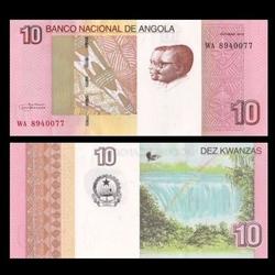 ANGOLA - Billet de 10 Kwanzas - Cascades de Luena - 2016