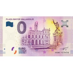 BILLET TOURISTIQUE - ZERO 0 EURO - ESPAGNE - PLAZA MAYOR VALLADOLID - 2018 VEBC - 2018-1