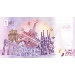 BILLET TOURISTIQUE - ZERO 0 EURO - ESPAGNE - PLAZA MAYOR VALLADOLID - 2018