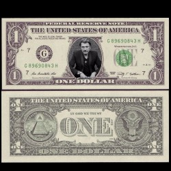 USA / ETATS UNIS - VERITABLE Billet de 1 DOLLAR - JOHNNY HALLYDAY