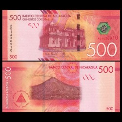 NICARAGUA - Billet de 500 Córdobas - 26.03.2014