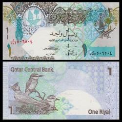 QATAR - Billet de 1 Riyal - 2008 - Oiseaux du Qatar