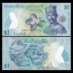 BRUNEI - Billet de 1 Ringgit / Dollar - Sultan Hassan al-Bolkiah I - 2016