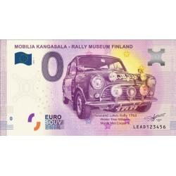 BILLET TOURISTIQUE - ZERO EURO - FINLANDE - MOBILIA KANGASALA RALLY MUSEUM FINLAND - 2018