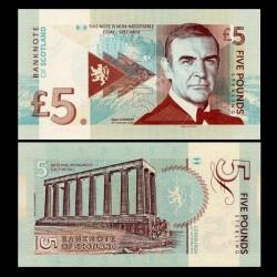 ECOSSE - Billet de 5 Pounds - Sean Connery - 2014