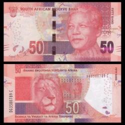 AFRIQUE DU SUD - Billet de 50 Rand - Lion - 2013