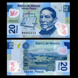 MEXIQUE - BILLET de 20 Pesos - Polymer - 2011