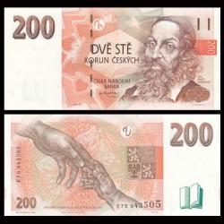 REPUBLIQUE TCHEQUE - Billet de 200 Korun - 1998 P19a
