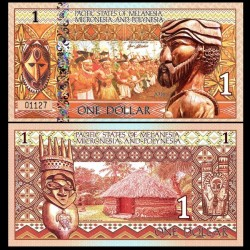 PACIFIC STATES - Billet de 1 DOLLAR - Mélanésie - 2018