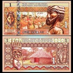 PACIFIC STATES - Billet de 1 DOLLAR - Mélanésie - 2018 0001