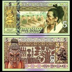 PACIFIC STATES - Billet de 5 DOLLARS - Micronésie - 2018