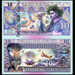 PACIFIC STATES - Billet de 10 DOLLARS - Polynésie - 2018 0010
