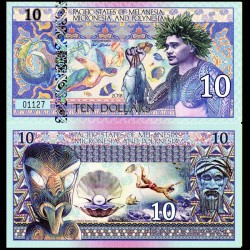 PACIFIC STATES - Billet de 10 DOLLARS - Polynésie - 2018