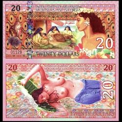 PACIFIC STATES - Billet de 20 DOLLARS - Polynésie - 2018 0020