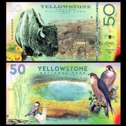 YELLOWSTONE - Billet de 50 DOLLARS - Bison - 2018