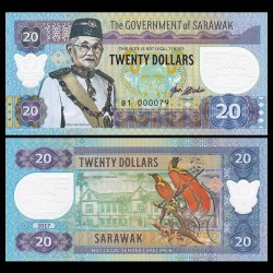 SARAWAK - Billet de 20 DOLLARS - Musée - 2017 0020 - Gabris
